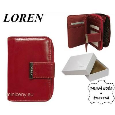 Exkluzívna dámska kožená peňaženka LOREN /325 RED