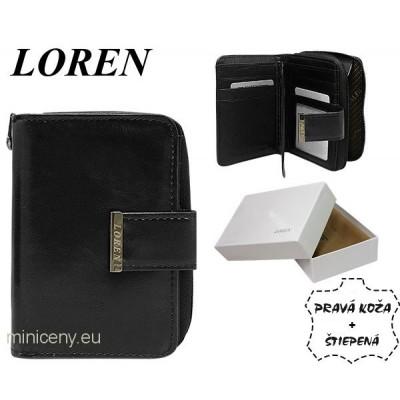 Exkluzívna dámska kožená peňaženka LOREN /326 BLACK