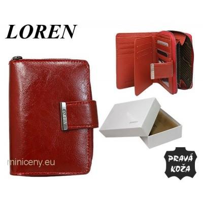 Exkluzívna dámska kožená peňaženka LOREN /306 RED