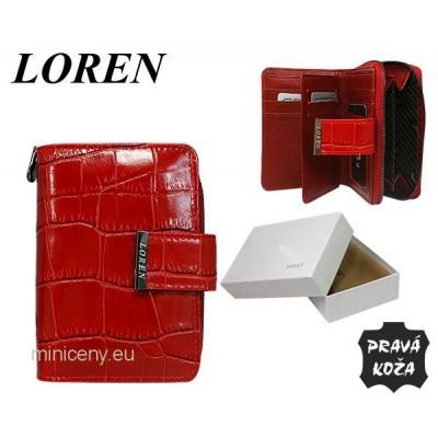 Exkluzívna dámska kožená peňaženka LOREN /305 RED