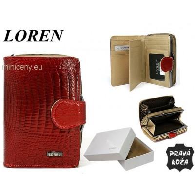 Exkluzívna dámska kožená peňaženka LORENTI /328 RED
