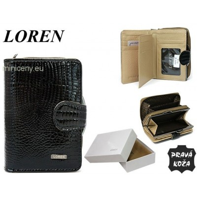Exkluzívna dámska kožená peňaženka LOREN /327 BLACK