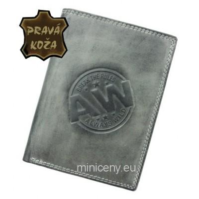 Exkluzívna pánska kožená peňaženka ALWAYS WILD /102 GRAY