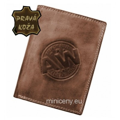 Exkluzívna pánska kožená peňaženka ALWAYS WILD /101 BROWN