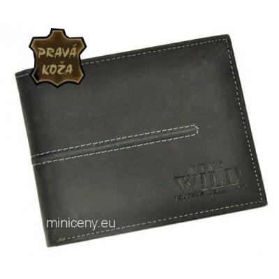 Exkluzívna pánska kožená peňaženka ALWAYS WILD /87 BLACK