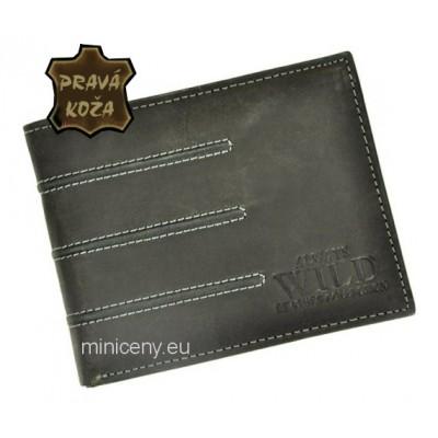 Exkluzívna pánska kožená peňaženka ALWAYS WILD /88 BLACK