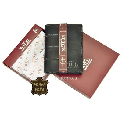Exkluzívna pánska kožená peňaženka ALWAYS WILD /99 BLACK