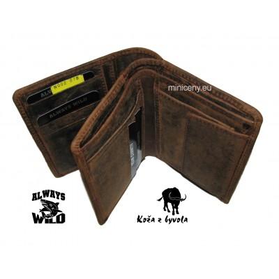 Exkluzívna pánska kožená peňaženka ALWAYS WILD /*311 BLACK