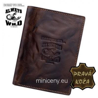 Exkluzívna pánska kožená peňaženka ALWAYS WILD /365 BROWN