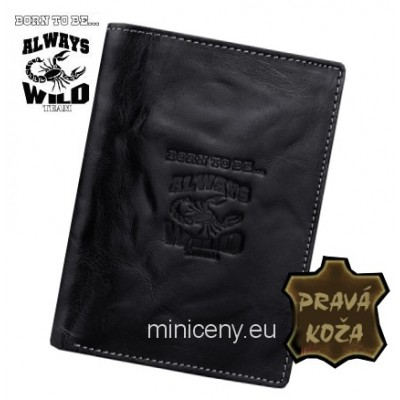 Exkluzívna pánska kožená peňaženka ALWAYS WILD /364 BLACK