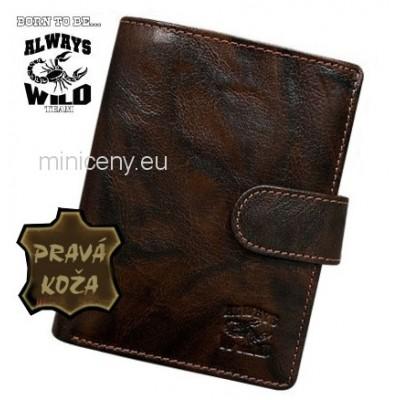 Exkluzívna pánska kožená peňaženka ALWAYS WILD /367 BROWN