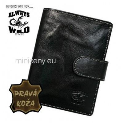 Exkluzívna pánska kožená peňaženka ALWAYS WILD /366 BLACK