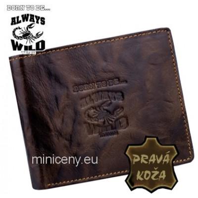 Exkluzívna pánska kožená peňaženka ALWAYS WILD /369 BROWN