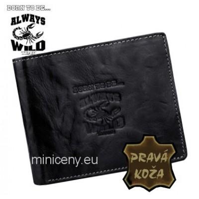 Exkluzívna pánska kožená peňaženka ALWAYS WILD /368 BLACK