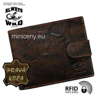 Exkluzívna pánska kožená peňaženka ALWAYS WILD /371 BROWN