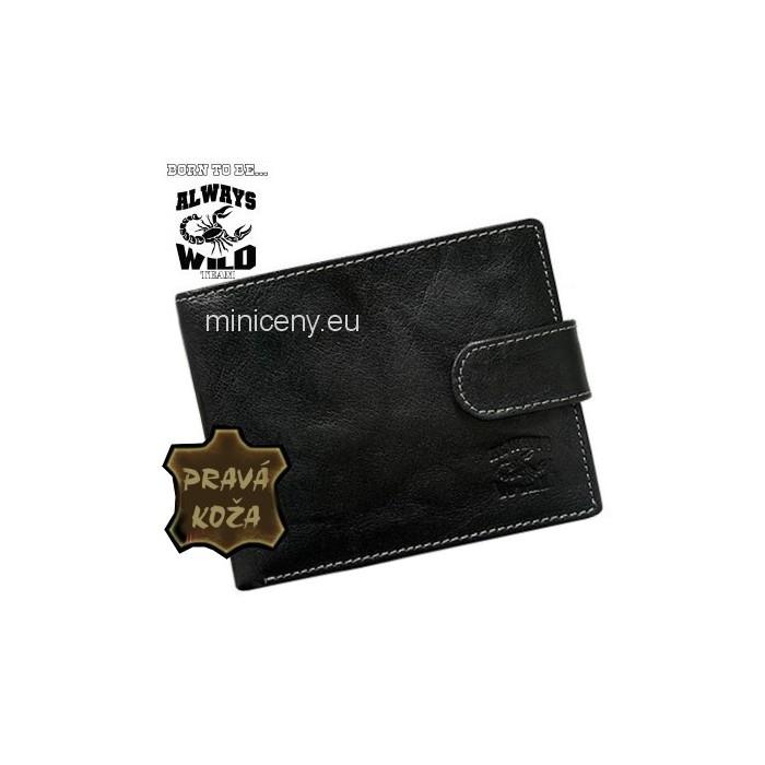 Exkluzívna pánska kožená peňaženka ALWAYS WILD /370 BLACK
