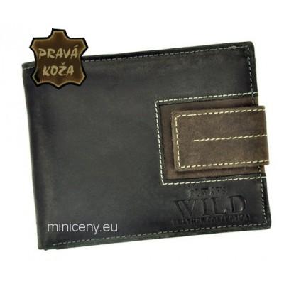 Exkluzívna pánska kožená peňaženka ALWAYS WILD /85 BLACK