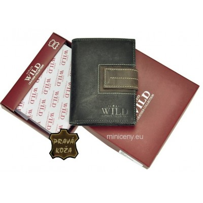 Exkluzívna pánska kožená peňaženka ALWAYS WILD /116 BLACK