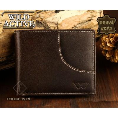 Exkluzívna pánska kožená peňaženka WILD ACTIVE /94 Brown