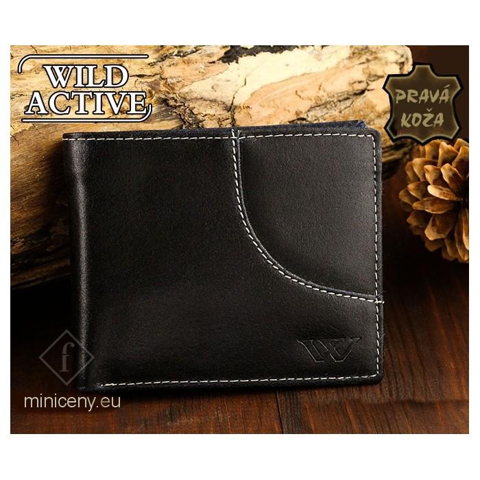 Exkluzívna pánska kožená peňaženka WILD ACTIVE /346 NAVY