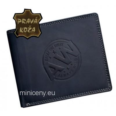 Exkluzívna pánska kožená peňaženka ALWAYS WILD /400 BLUE