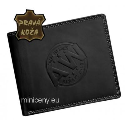 Exkluzívna pánska kožená peňaženka ALWAYS WILD /399 BLACK