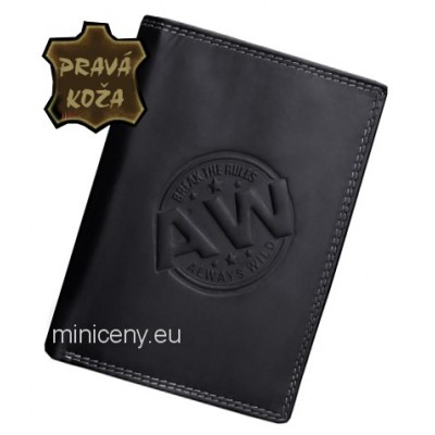 Exkluzívna pánska kožená peňaženka ALWAYS WILD /230 BLACK
