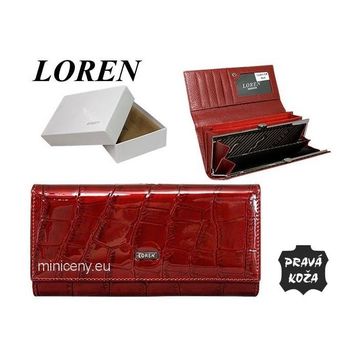 Exkluzívna dámska peňaženka LOREN kožená /377 RED