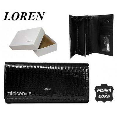 Exkluzívna dámska peňaženka LOREN kožená /379 BLACK
