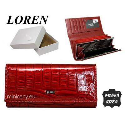 Exkluzívna dámska peňaženka LOREN kožená /378 RED