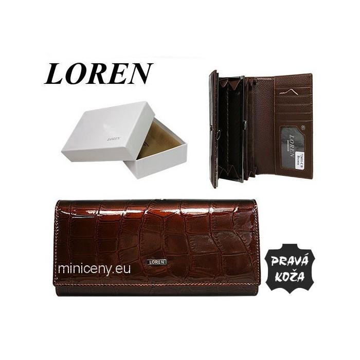 Exkluzívna dámska peňaženka LOREN kožená /376 BROWN