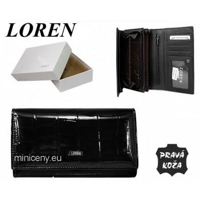 Exkluzívna dámska kožená peňaženka LOREN /387 BLACK