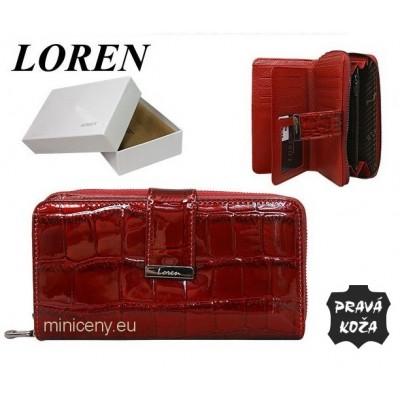 Exkluzívna dámska peňaženka LOREN kožená /383 RED