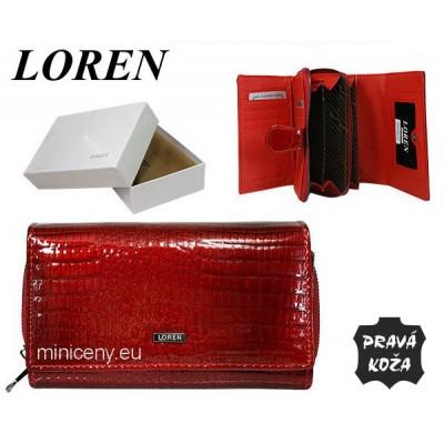Exkluzívna dámska kožená peňaženka LOREN /384 RED