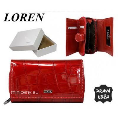 Exkluzívna dámska kožená peňaženka LOREN /375 RED