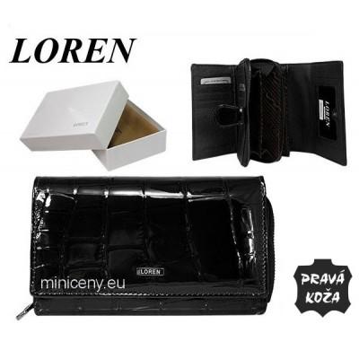 Exkluzívna dámska kožená peňaženka LOREN /374 BLACK