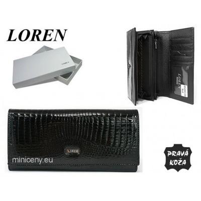 Exkluzívna dámska peňaženka LOREN kožená /381 BLACK