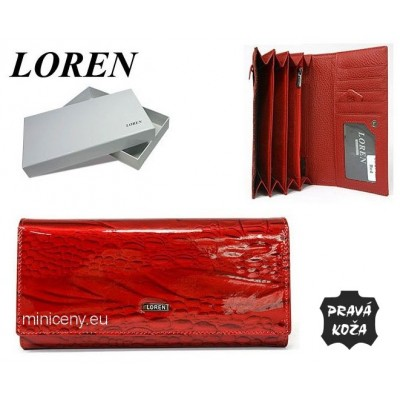 Exkluzívna dámska peňaženka LOREN kožená /382 RED