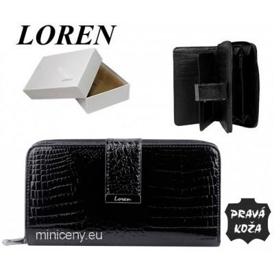 Exkluzívna dámska peňaženka LOREN kožená /415 BLACK