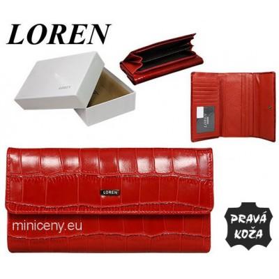 Exkluzívna dámska peňaženka LOREN kožená /417 RED