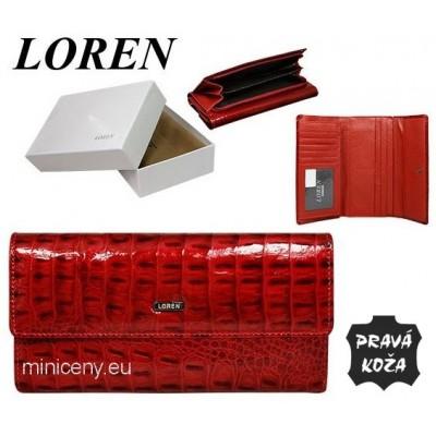 Exkluzívna dámska peňaženka LOREN kožená /416 RED