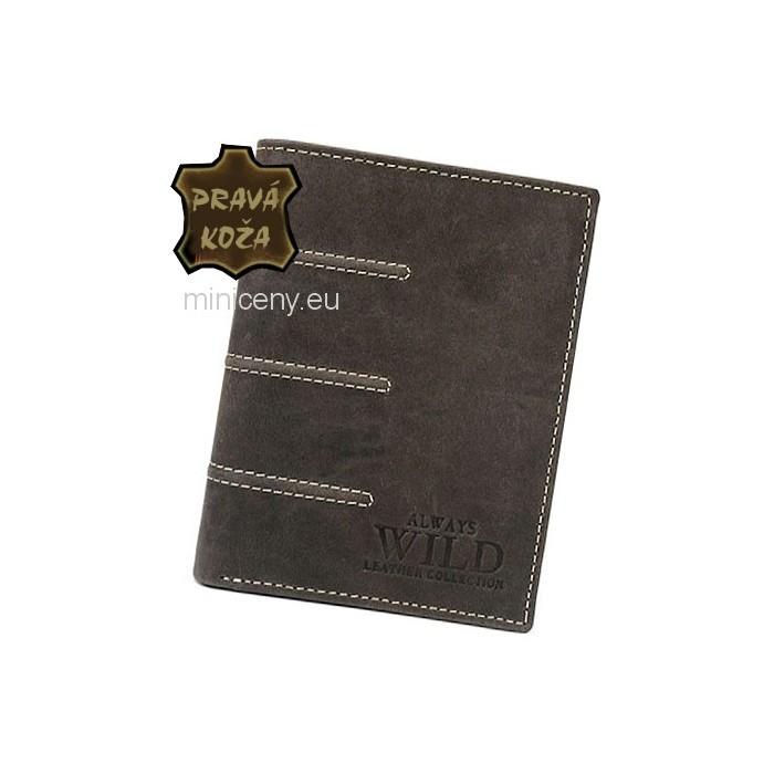 Exkluzívna pánska kožená peňaženka ALWAYS WILD /420 BROWN