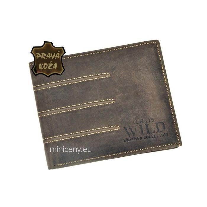 Exkluzívna pánska kožená peňaženka ALWAYS WILD /421 BROWN