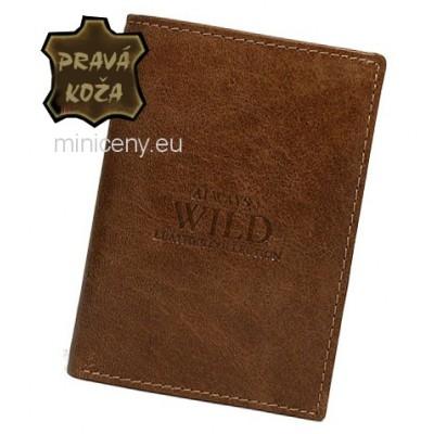 Exkluzívna pánska kožená peňaženka ALWAYS WILD /402 SVETLOHNEDA