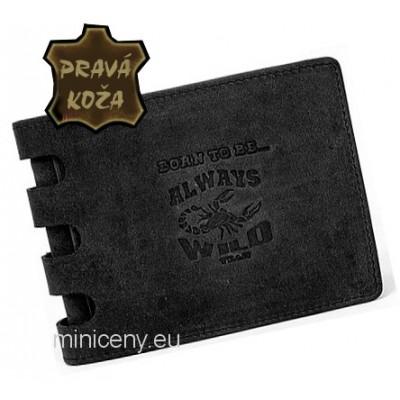 Exkluzívna pánska kožená peňaženka ALWAYS WILD /227 BLACK