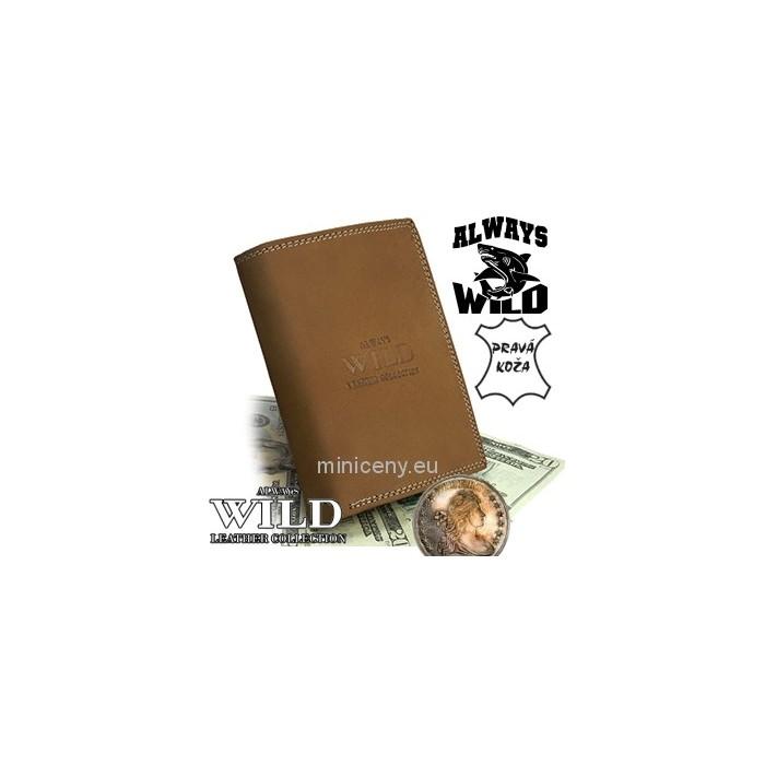 Exkluzívna pánska kožená peňaženka ALWAYS WILD /13 SVETLOHNEDA