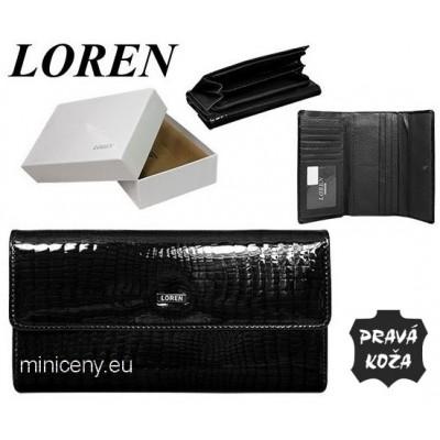 Exkluzívna dámska peňaženka LOREN kožená /418 BLACK