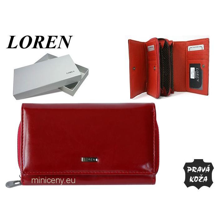 Exkluzívna dámska kožená peňaženka LOREN /334 RED