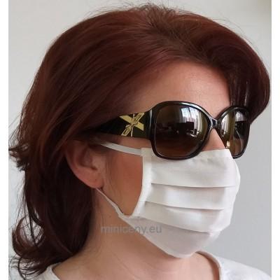 Ochranné rúško na tvár 1ks - bavlnené s gumičkou / rúško na ústa