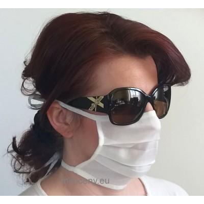 Ochranné rúško na tvár 1ks - bavlnené so šnúrkou / rúško na ústa